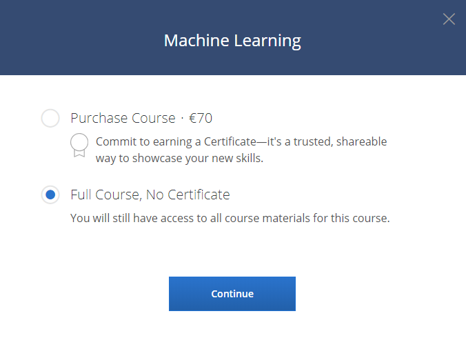 how to get coursera free courses
